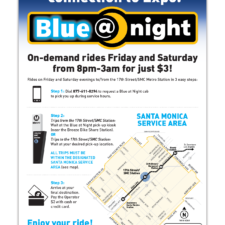 City of Santa Monica, Big Blue Bus Weekend Taxi Service Marketing