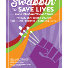 Swabbin' to Save Lives, Event Poster