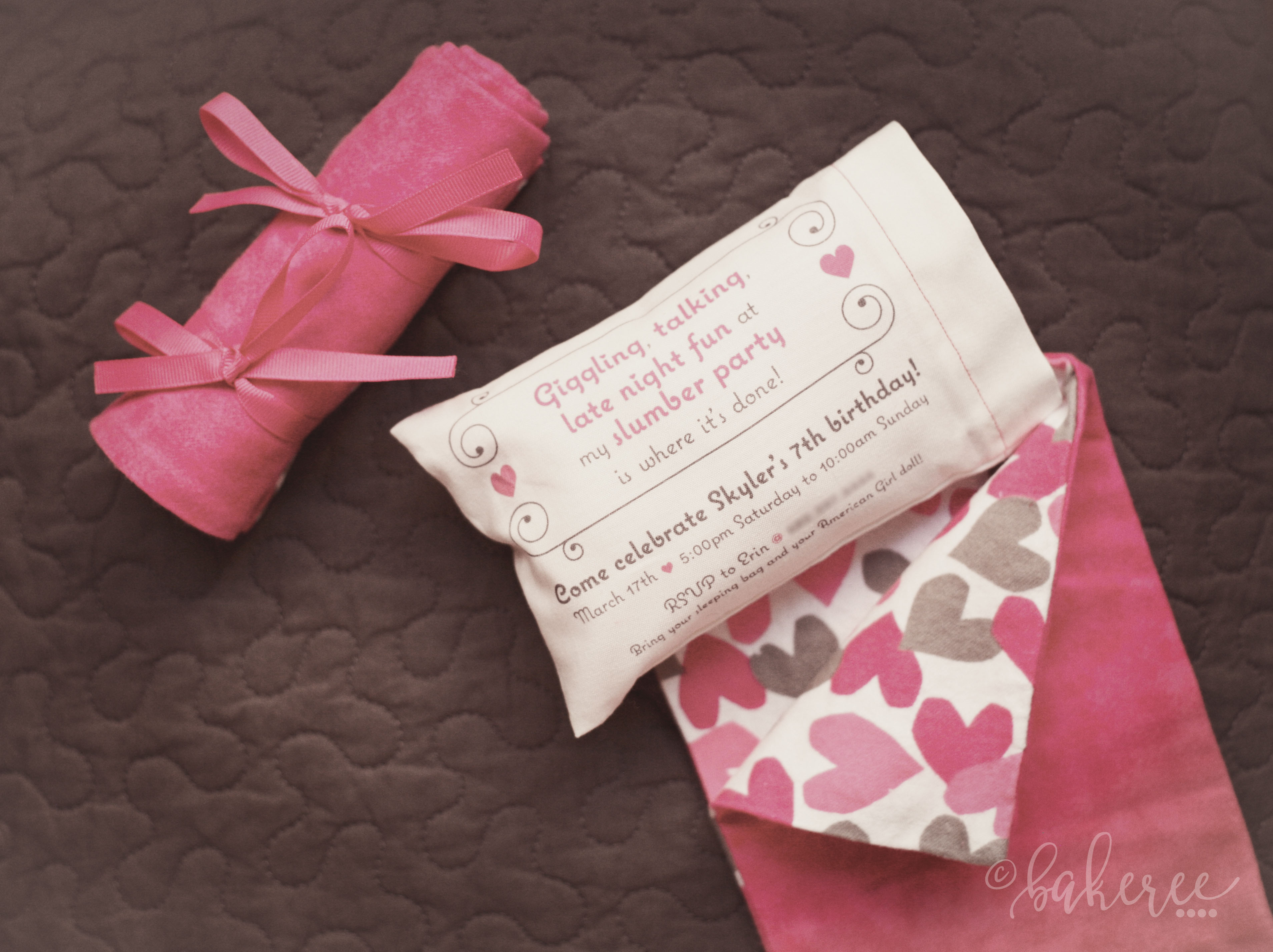 Sleeping Blanket and Pillow Wedding Invitation