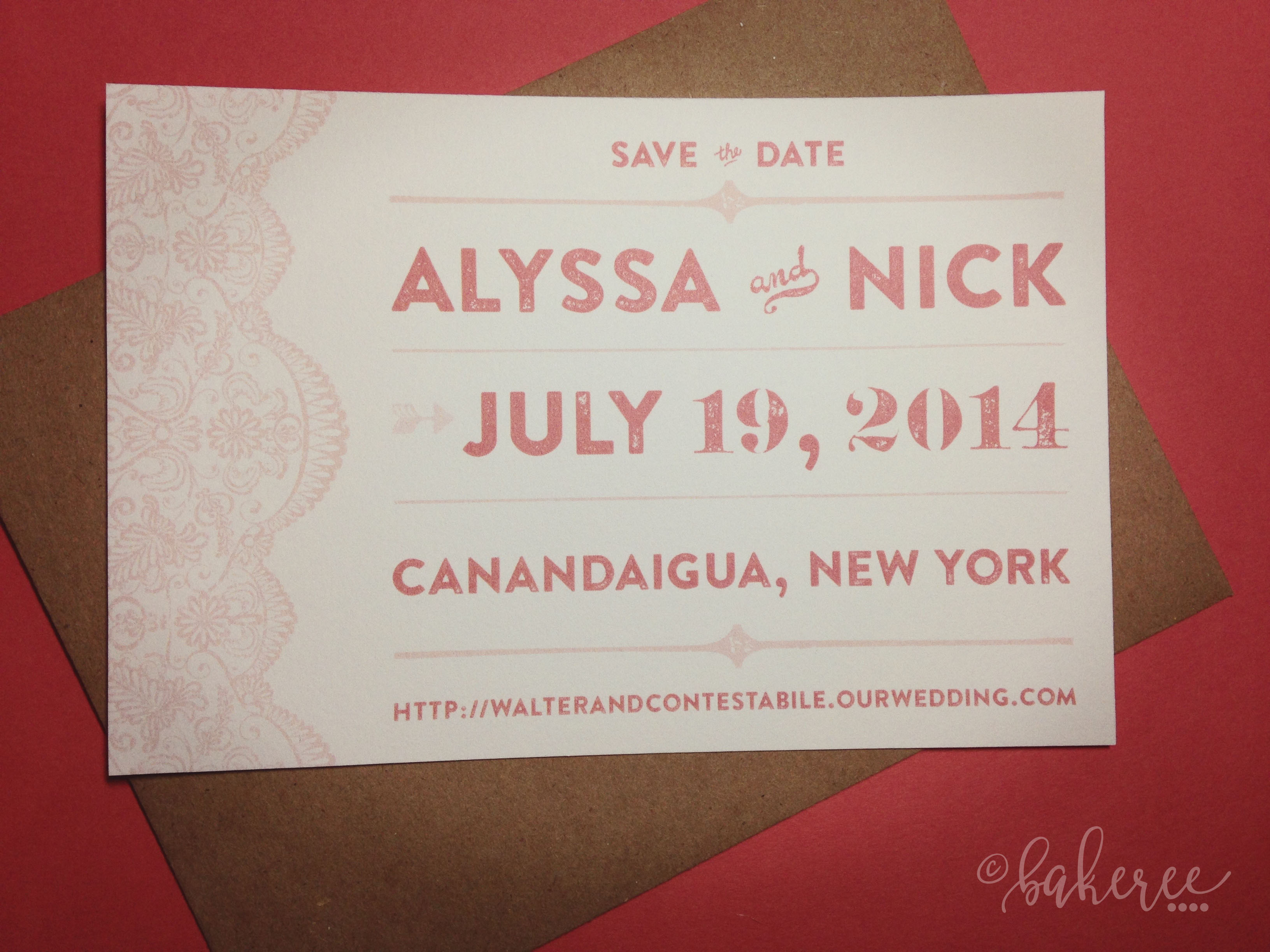 Lace Save the Date
