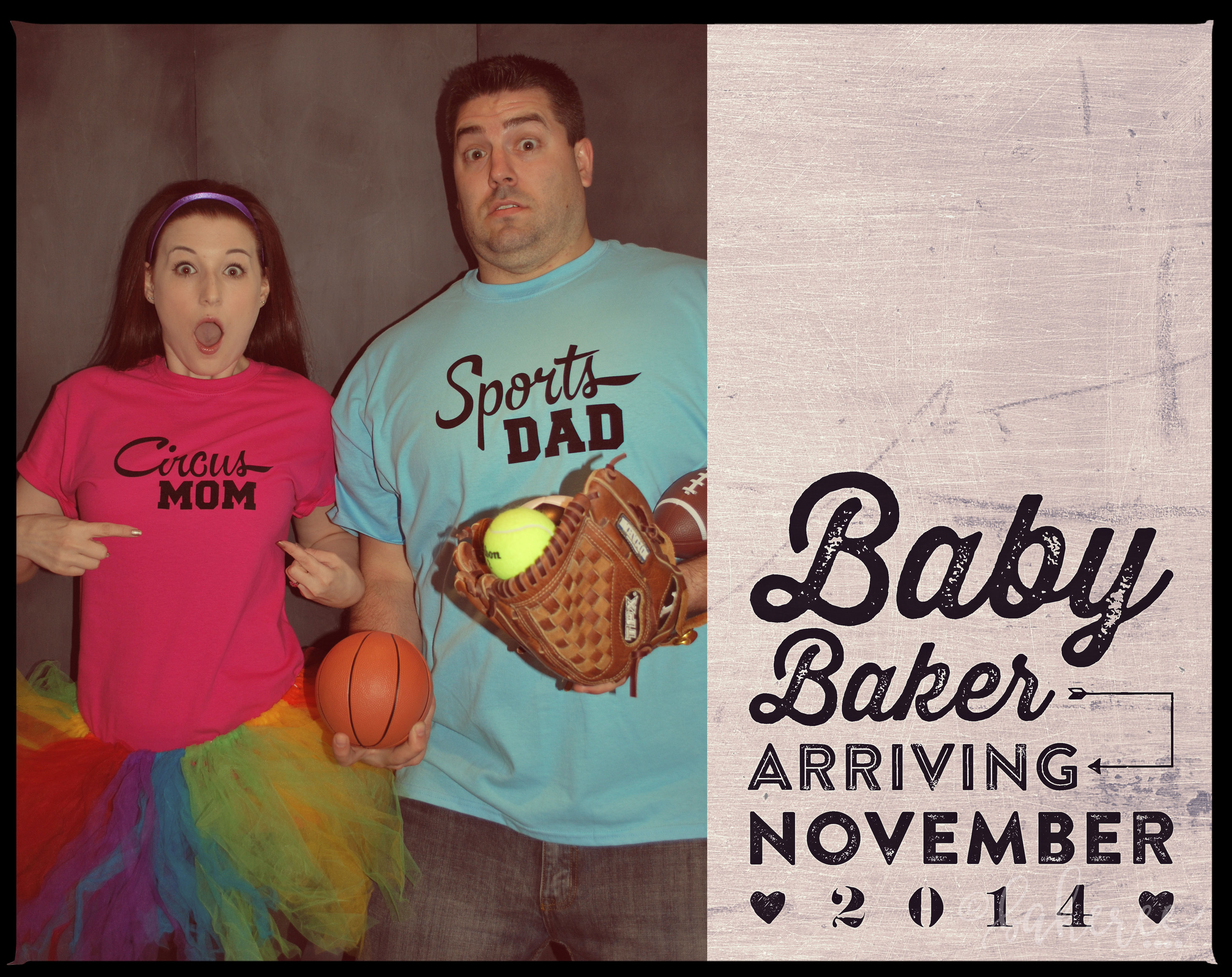 Mom and Dad Pregnancy Announcement