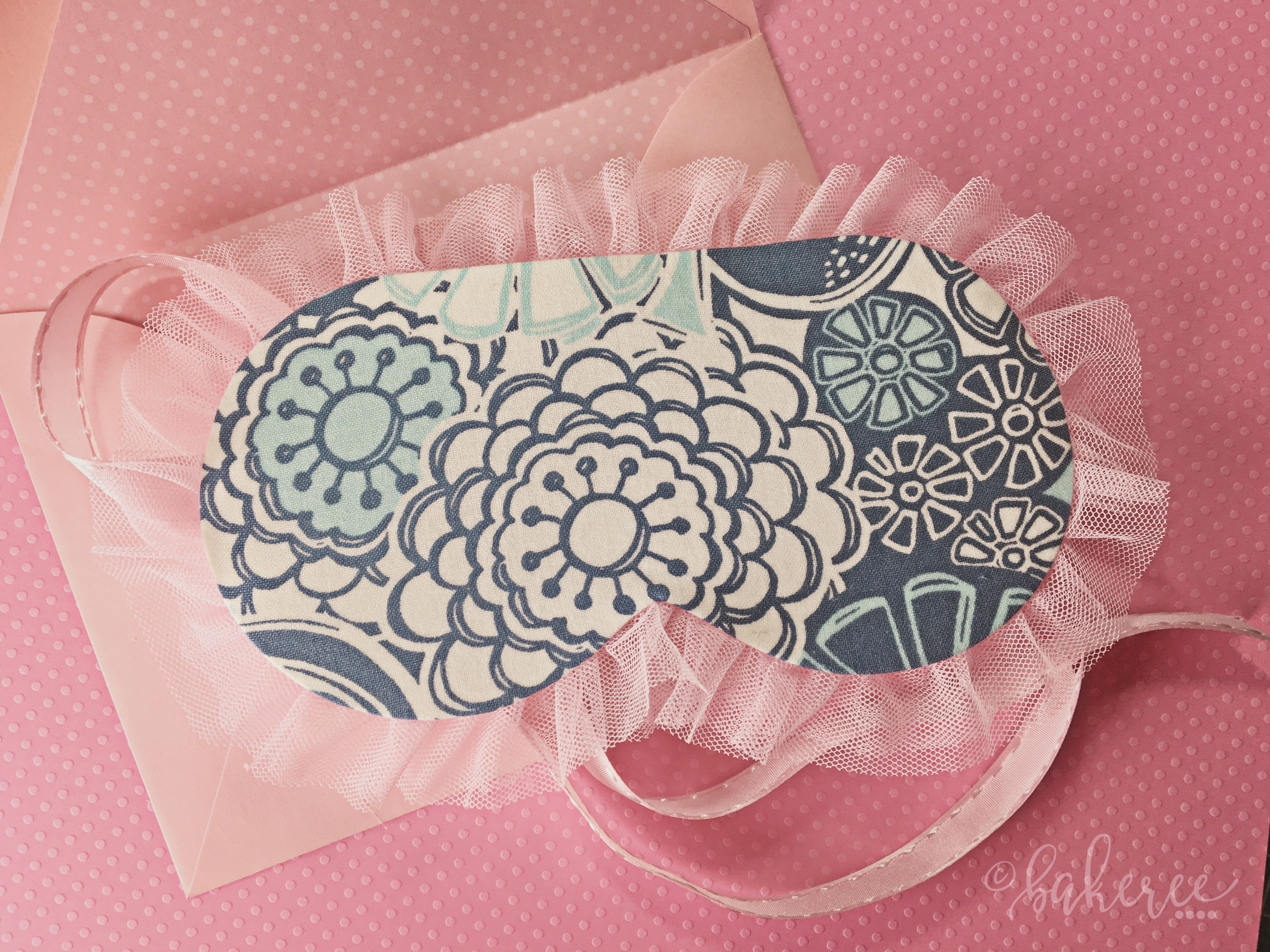 Sleeping Mask Birthday Invitation {Back}