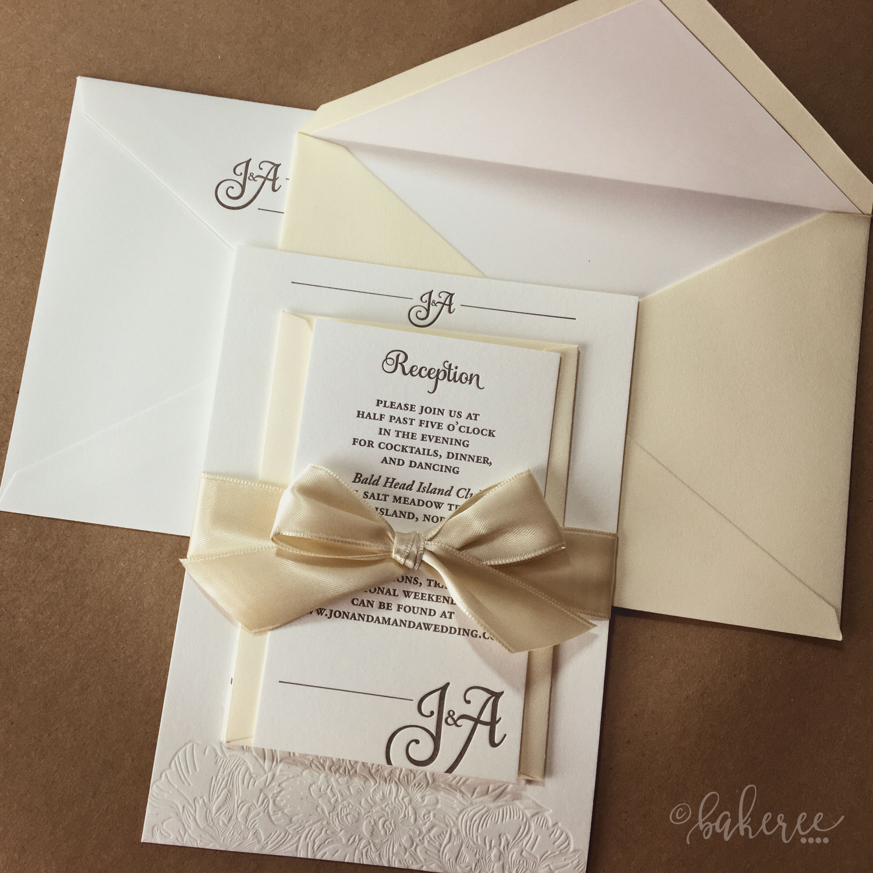 Leonie Letterpress Wedding Suite