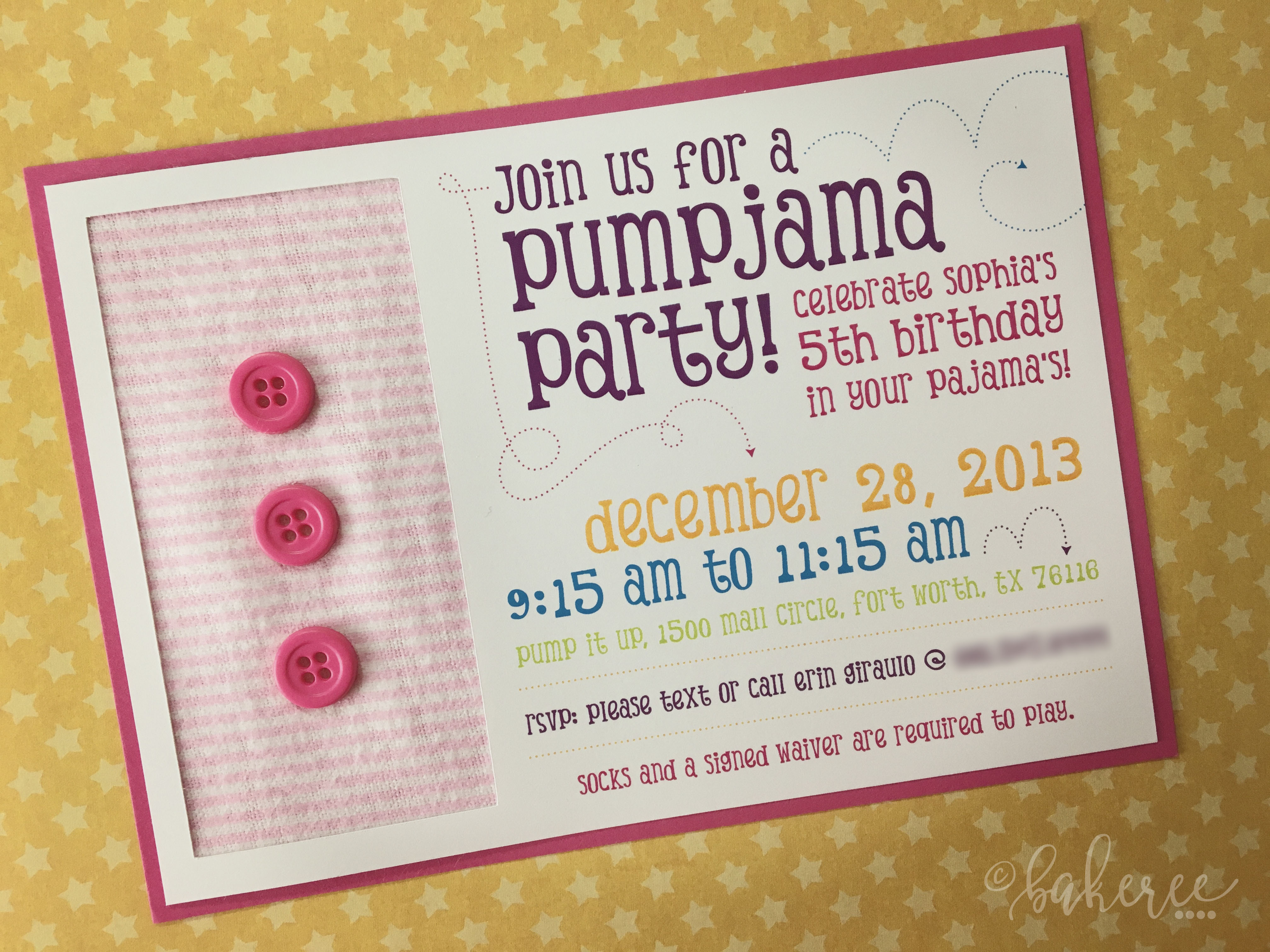 Pajama Birthday Party Invitation