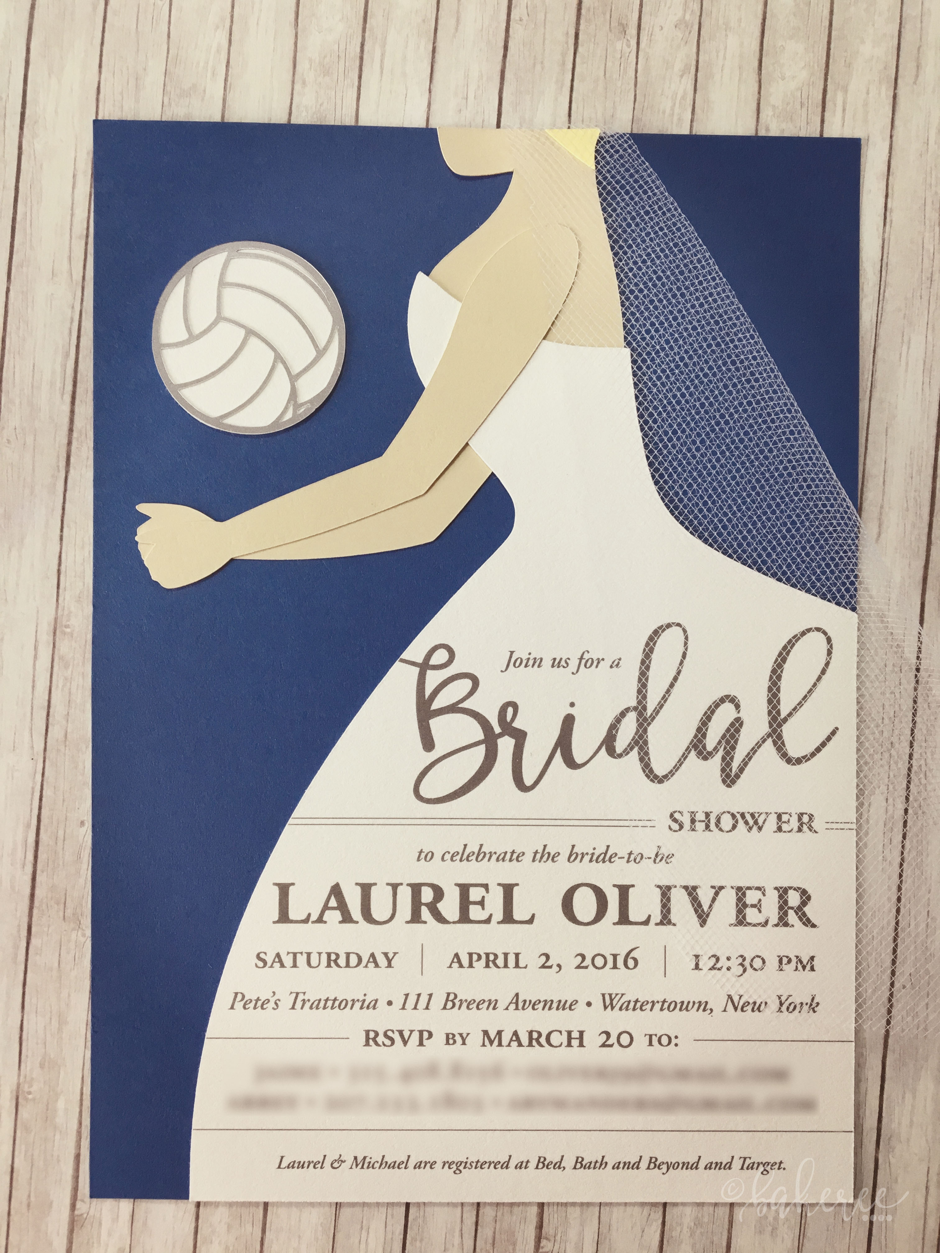 Volleyball Bride, Bridal Shower Invitation
