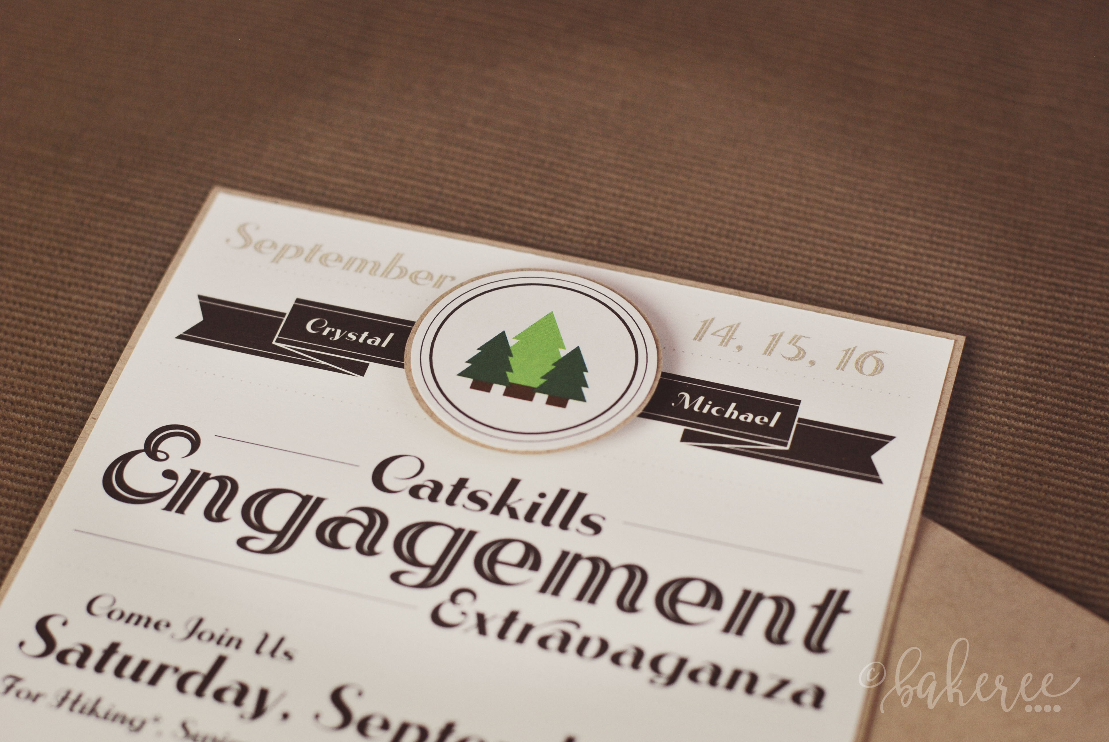 Scout Badge Engagement Weekend Invitation {Detail}