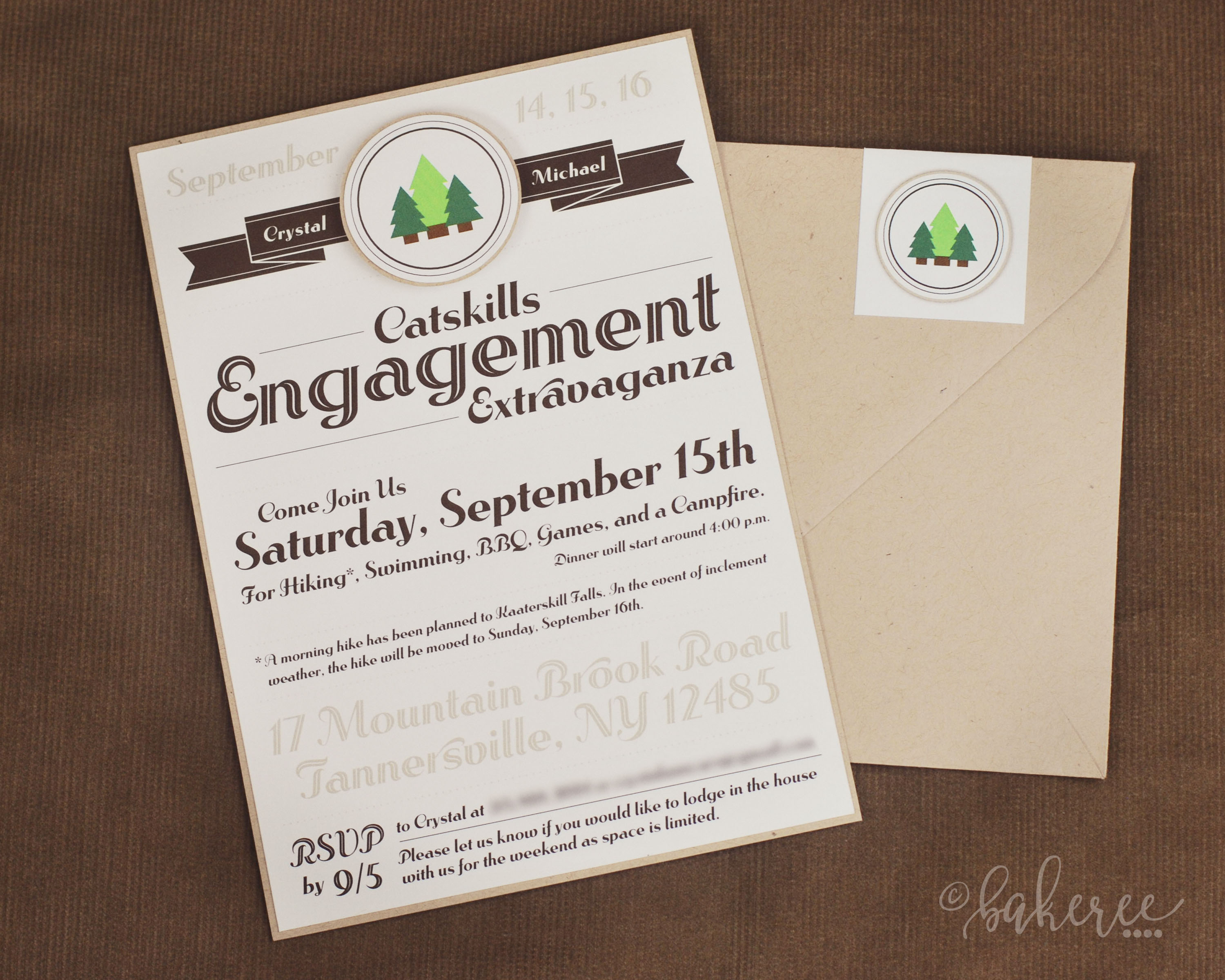 Scout Badge Engagement Weekend Invitation