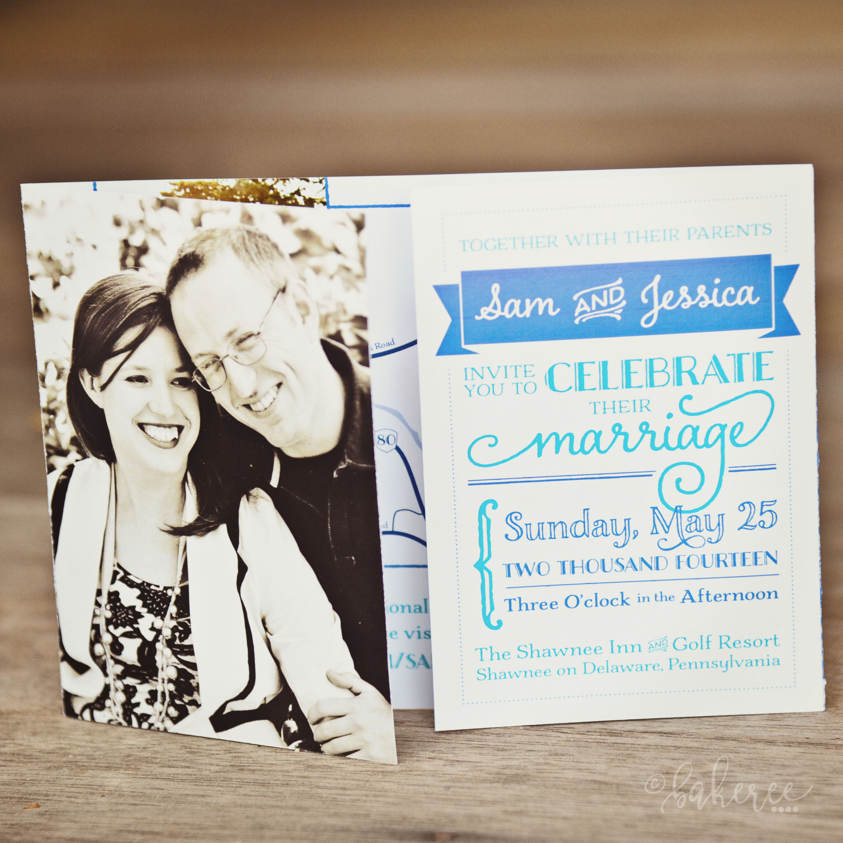 Pinwheel Wedding Suite {Invitation Front}