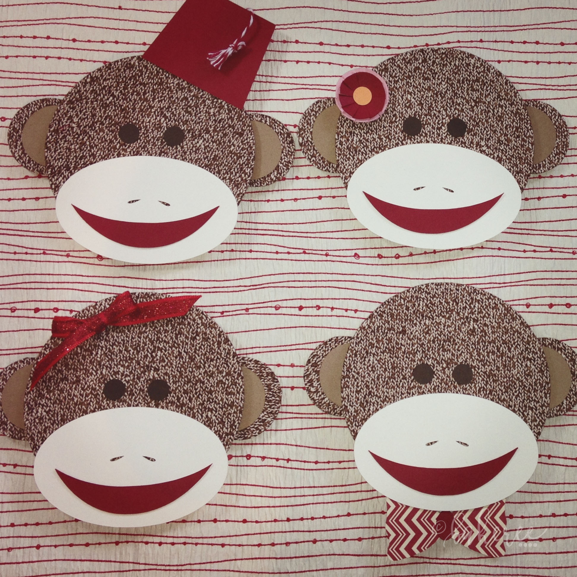 Sock Monkey Head Birthday Decor