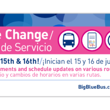 City of Santa Monica, Big Blue Bus Service Change Marketing