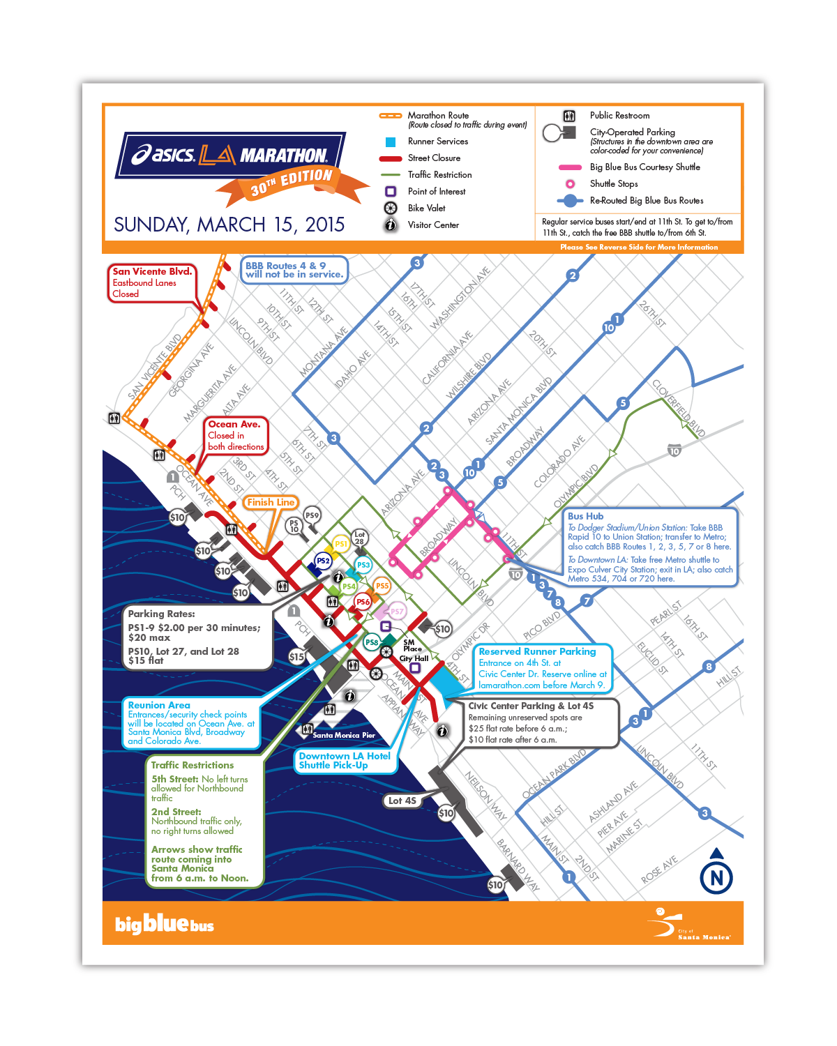 City of Santa Monica, LA Marathon Public Information Flyer