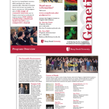 Stony Brook University, Graduate Genetics Program Brochure