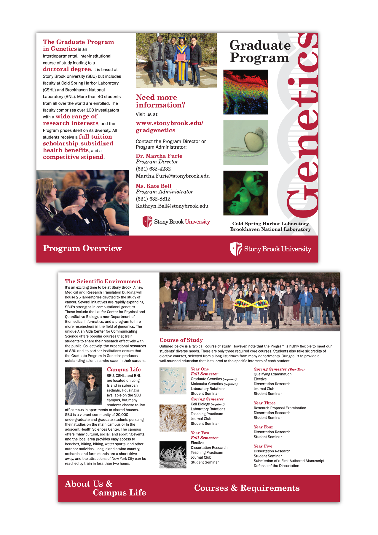 Stony Brook University, Graduate Genetics Program Brochure
